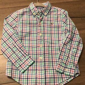 Vineyard Vines Boys Gingham button down shirt
